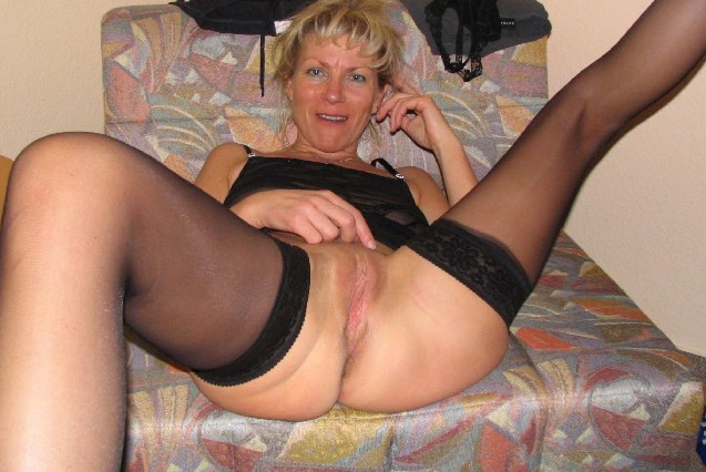 image Pretty amateur mature with young boy