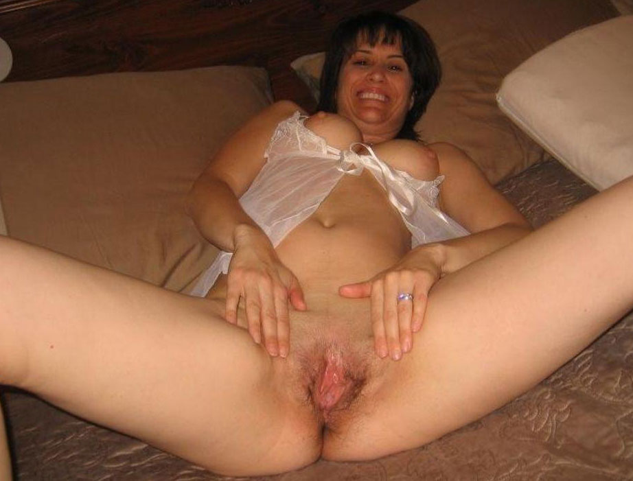 Dark haired chubby milf